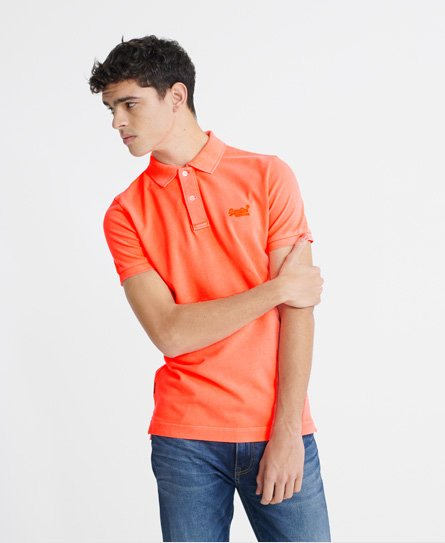 Superdry Organic Cotton Vintage Destroyed Pique Polo Shirt