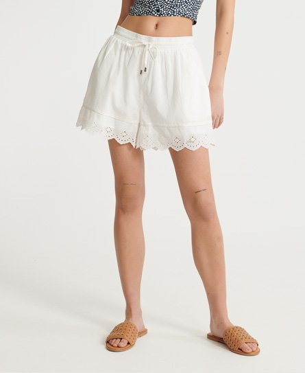 Superdry Lace Broderie Shorts