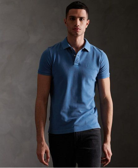Organic Cotton Vintage Destroyed Pique Polo Shirt165046