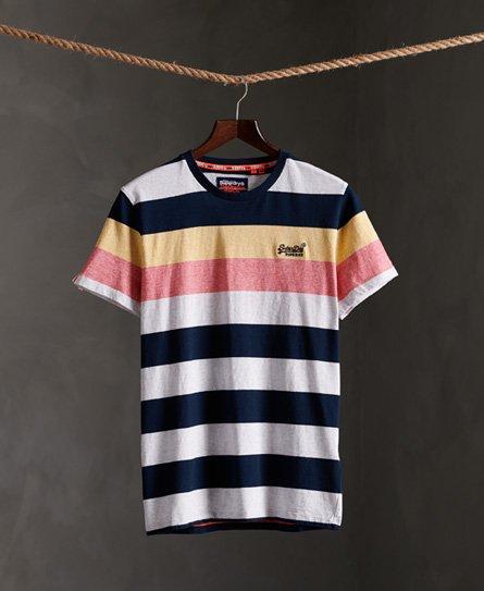 Stripete t skjorte i økologisk bomull Store størrelser