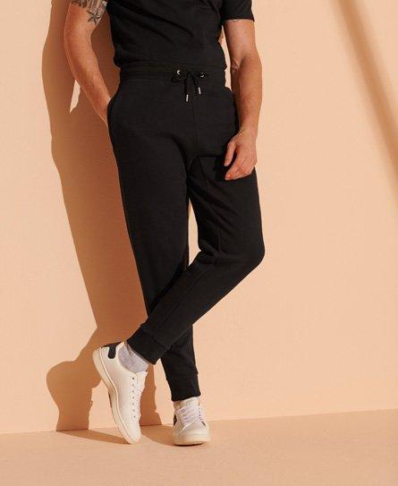 Superdry Losvallende geborstelde Micro joggingbroek met logo en taps toel