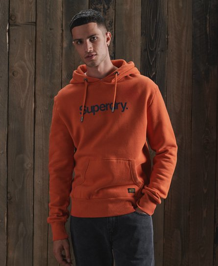 Sweat à capuche en toile Core - Superdry - Modalova