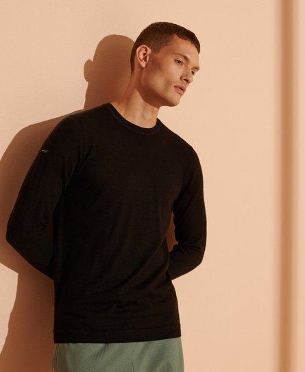 Superdry Men/'s Edit Merino Roll Neck Knit Wool Jumper Black Sizes XXXL S