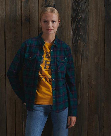 Superdry Lett skotskrutet skjorte Dame Skjorter