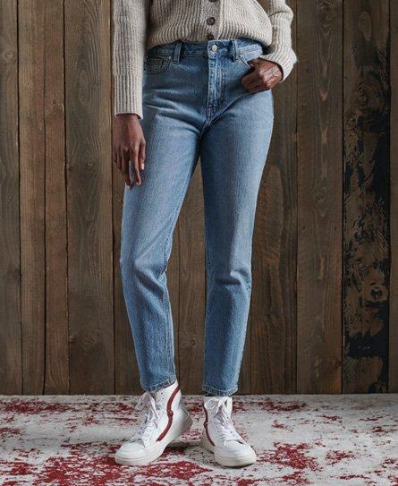 Superdry High Slim jeans met taps toelopende pijpen