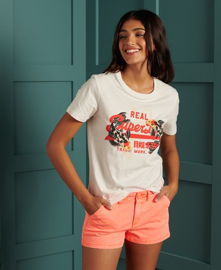 Superdry Rising Sun T skjorte Dame T skjorter