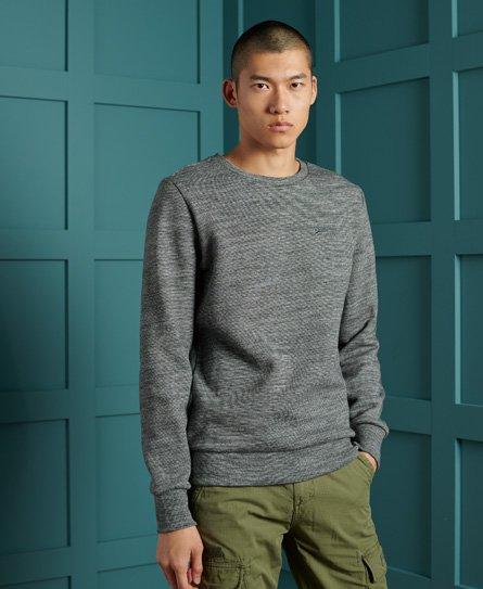 Superdry Herren Klassisches Sweatshirt Mit Rundhalsausschnitt Aus Der Orange Lab