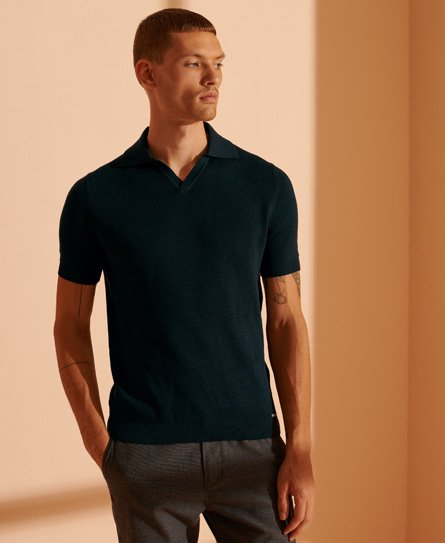 Superdry Edit Supima Knitted Polo Shirt