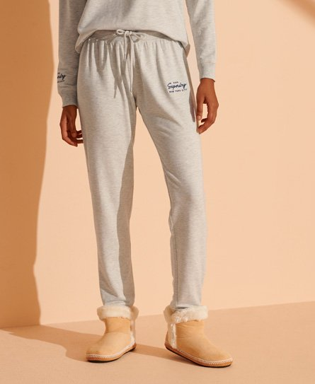Superdry Lucy Lounge Joggers In Light Grey