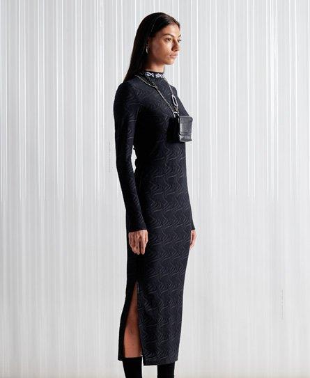 Superdry Limited Edition SDX jurk van jacquard mesh