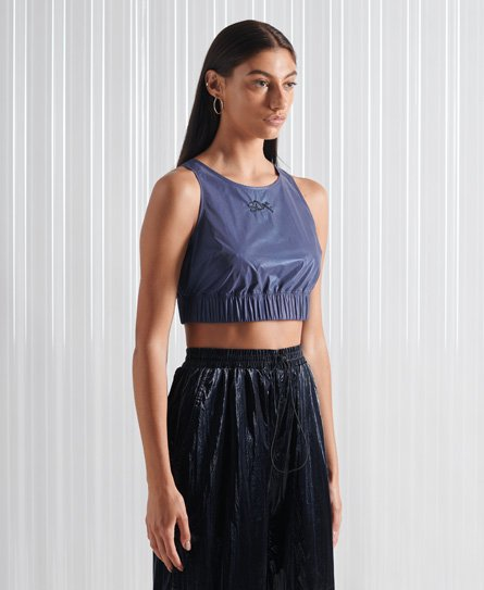 Superdry Limited Edition SDX Reflective Crop Top