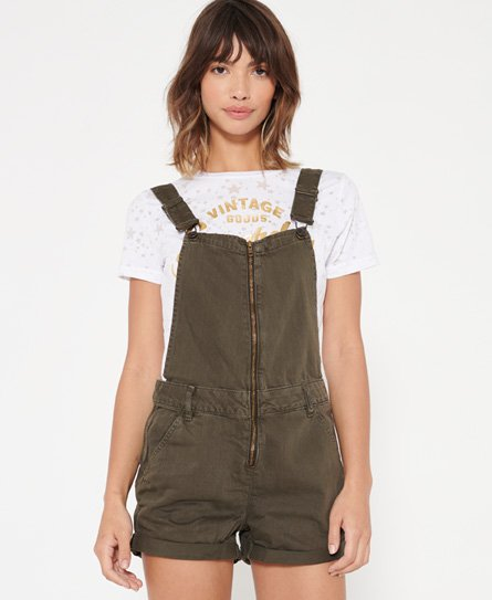 Superdry Zip Through Dungaree Shorts