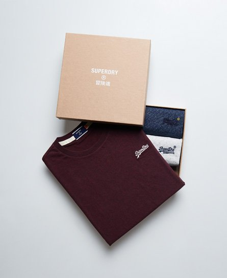 Superdry Vintage Logo T-Shirt 3 Pack Gift Set