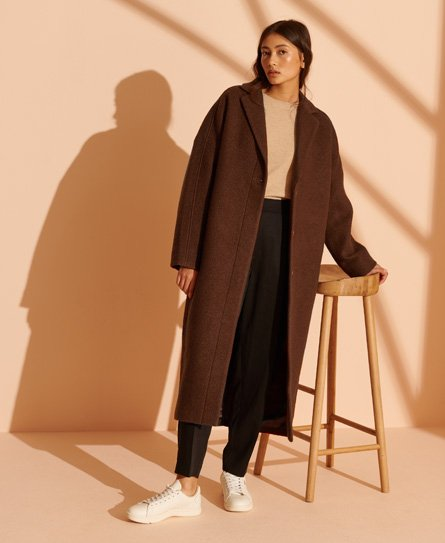 Superdry Limited Edition LongLine Wool Coat