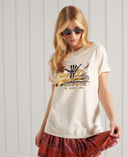 Superdry Vintage Logo Itago T-shirt In Cream