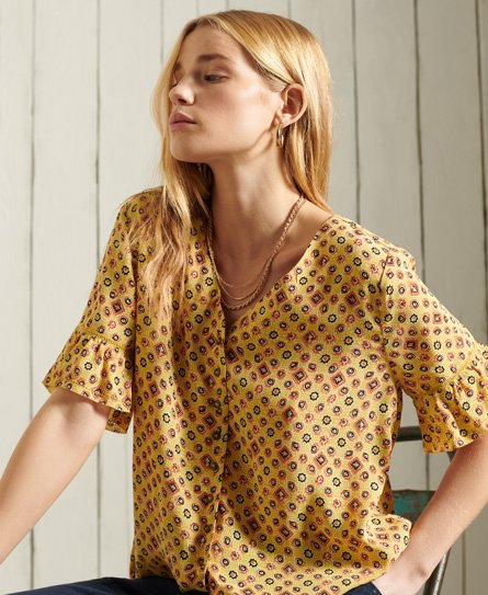 Superdry Short Sleeve Lace Top