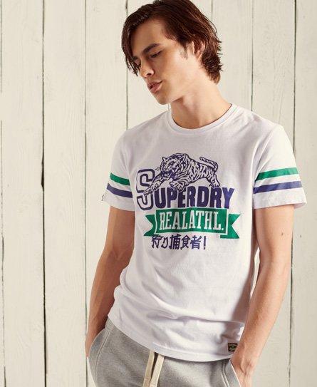 Superdry Bonded Varsity T-shirt Mit Standardgewicht In White