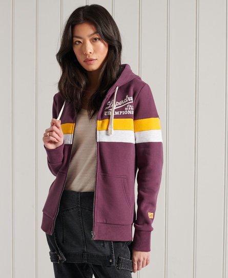 Superdry Collegiate Colour Block Zip Hoodie