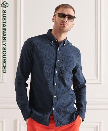 Superdry Organic Cotton Seersucker Long Sleeve Shirt