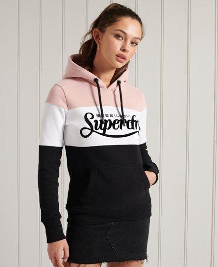 Superdry Premium Logo Colour Block Loopback Hoodie