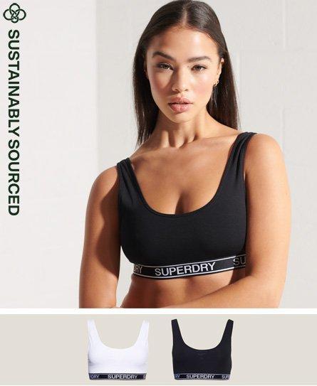 Superdry Organic Cotton Grace Super Bralette Double Pack