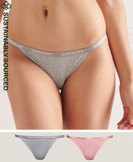 Superdry Organic Cotton Harper Bikini Brief 2 Pack
