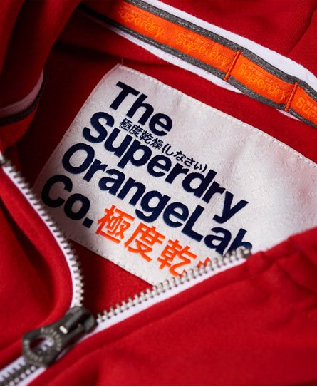 Superdry Orange Label Cali huvtröja med dragkedja