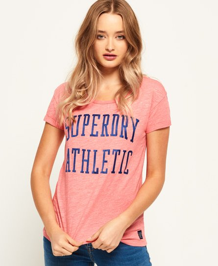 Superdry T-shirt coupe boyfriend slim Athletic