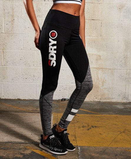 16108aa4c690cf Womens - SD Sport Colour Block Leggings in Black/dark Marl/mid Marl ...