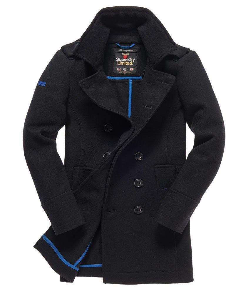 Klassisch Superdry Bridge Mantel Schwarz New Royal Jacken