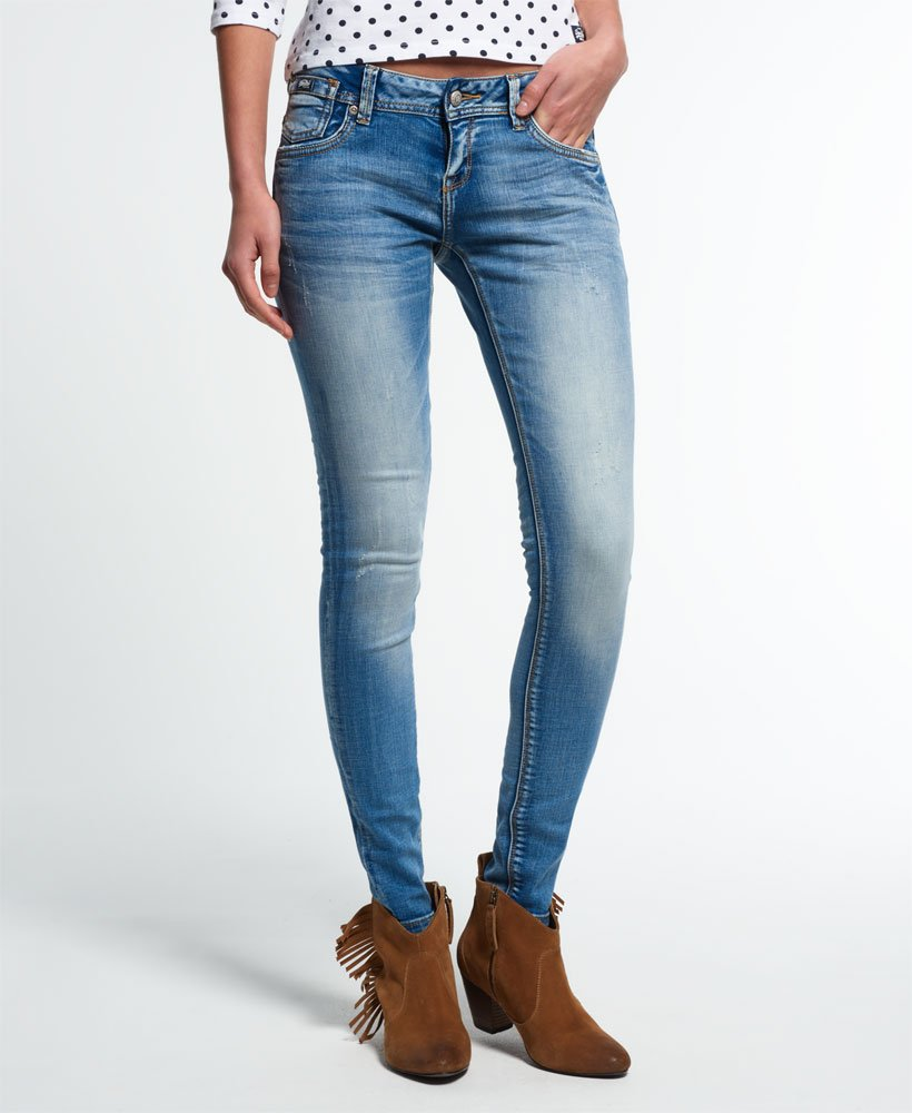 Womens Cassie Skinny Jeans in Luna Blue | Superdry