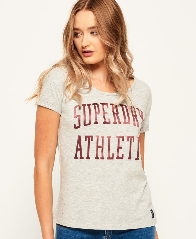Superdry T-shirt coupe boyfriend slim Athletic  thumbnail 1