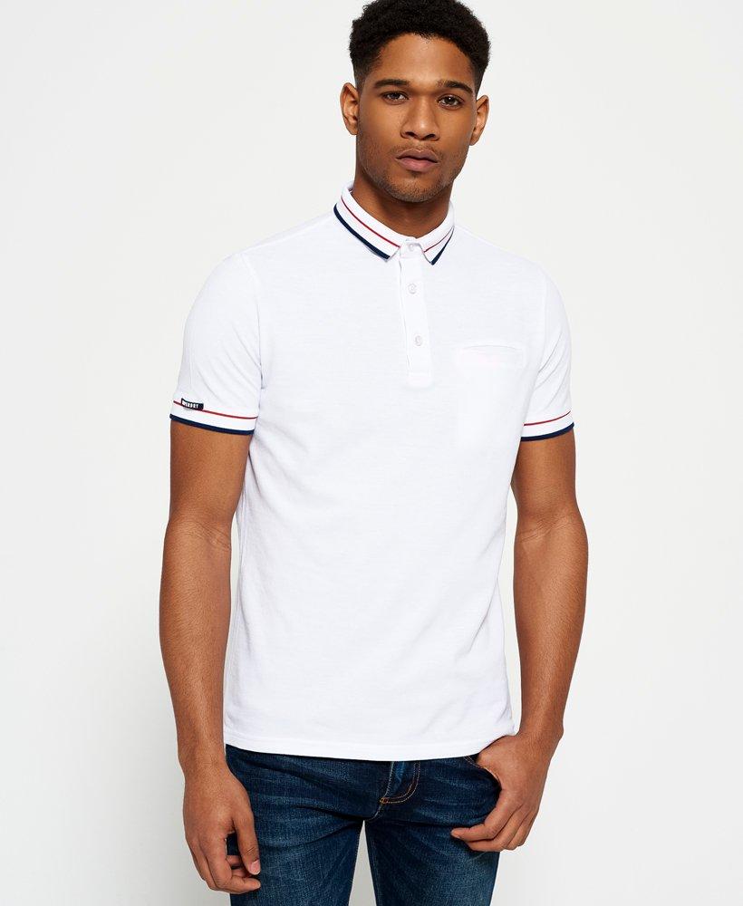 Superdry City Peleton Tipped Pocket Polo Shirt Mens Polo Shirts