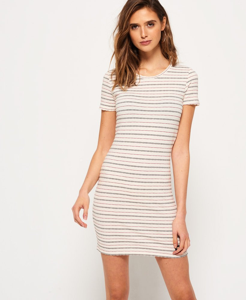 Superdry Textured Pacific Tee Dress thumbnail 1