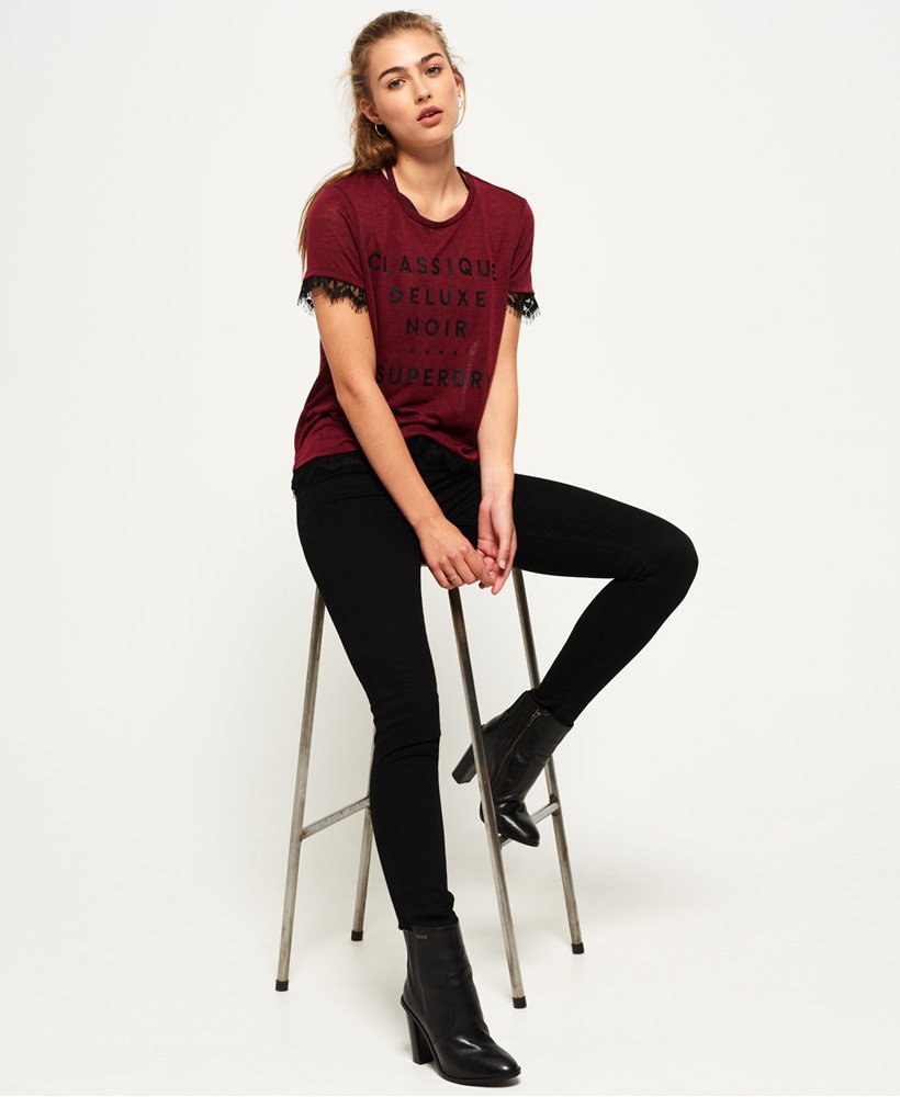 fbd980e5 Womens - Naoki Graphic T-Shirt in Dragonstail Burgundy | Superdry