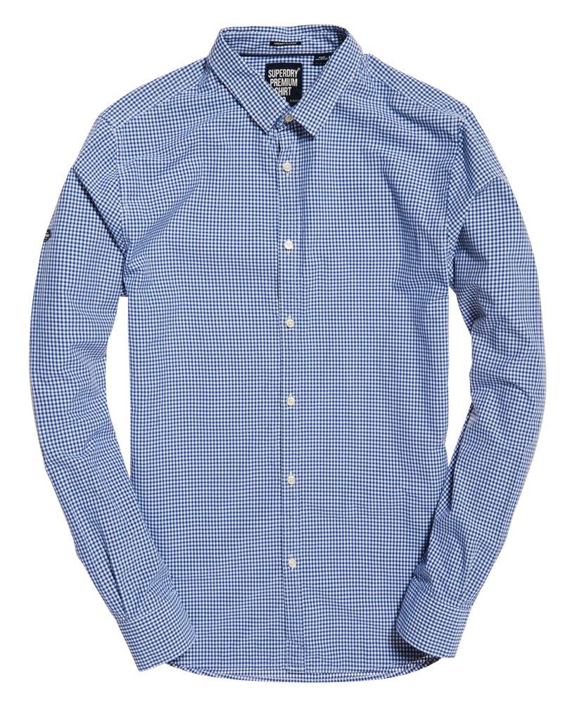 New Mens Superdry Modern Classic Shirt Richmond Blue Check