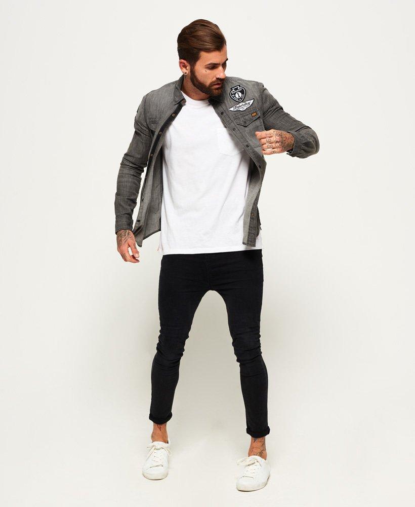 Superdry Camisa vaquera de manga larga con parches Dragway