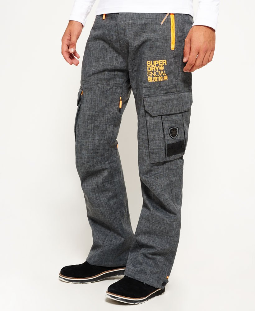 Superdry Mens Pants in Grey Marl thumbnail 1
