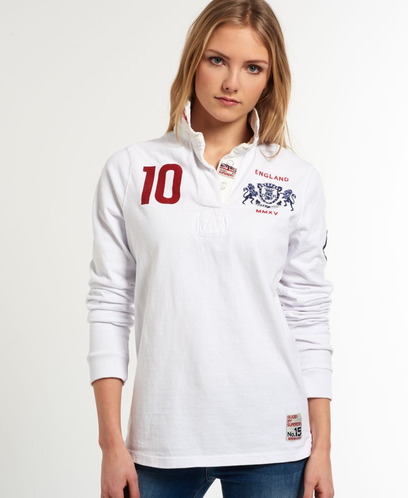 789f5cfffbf Womens - Valiant Rugby Shirt in Optic White | Superdry