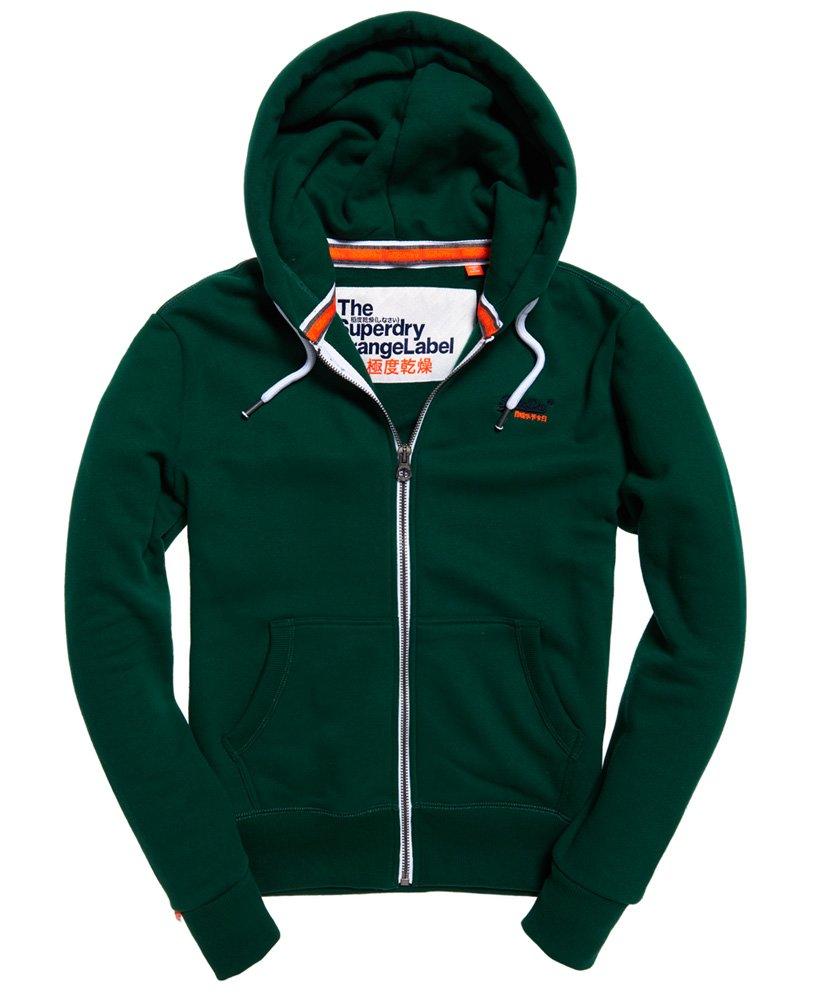 Mens Orange Label Zip Hoodie in Track