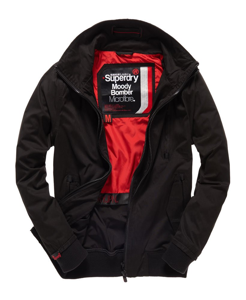 really cheap really comfortable unparalleled Superdry Microfibre Moody Bomber Jacket - Men's Jackets