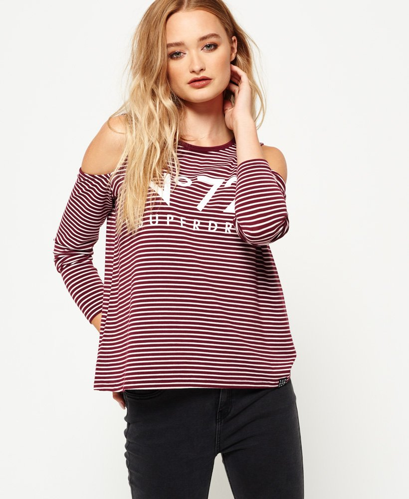 Superdry Cold Shoulder Graphic Top thumbnail 1