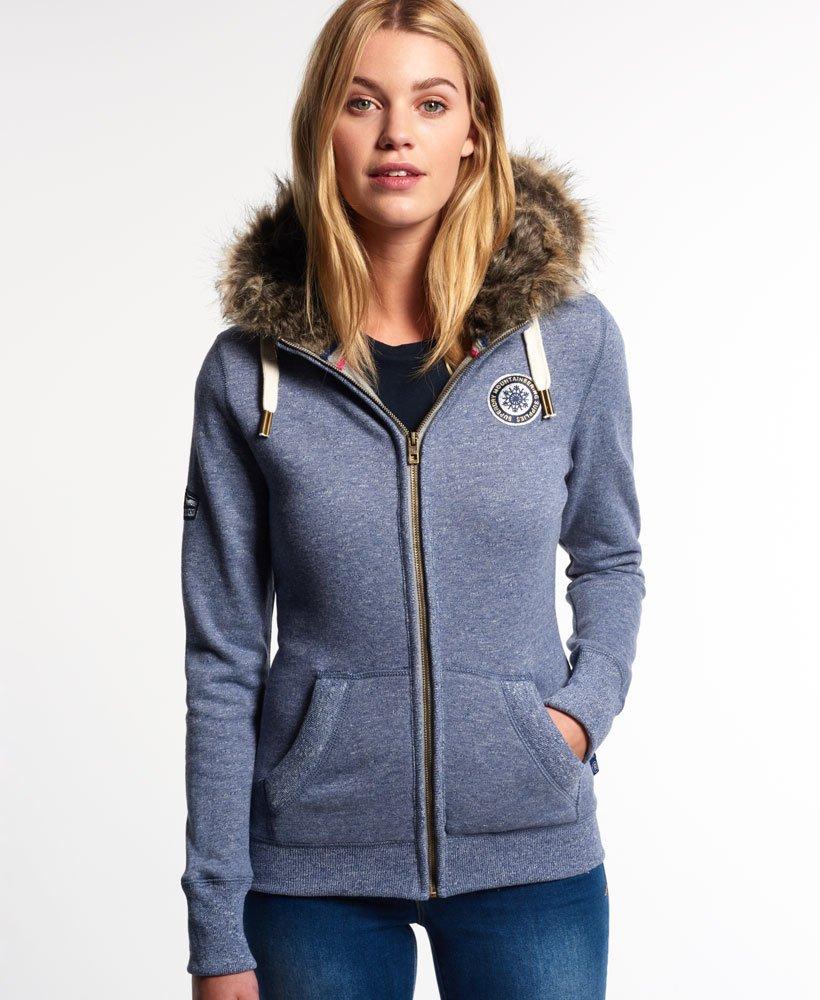 9127e1f3b7c65 Superdry Applique Luxe Fur Zip Hoodie - Women s Hoodies