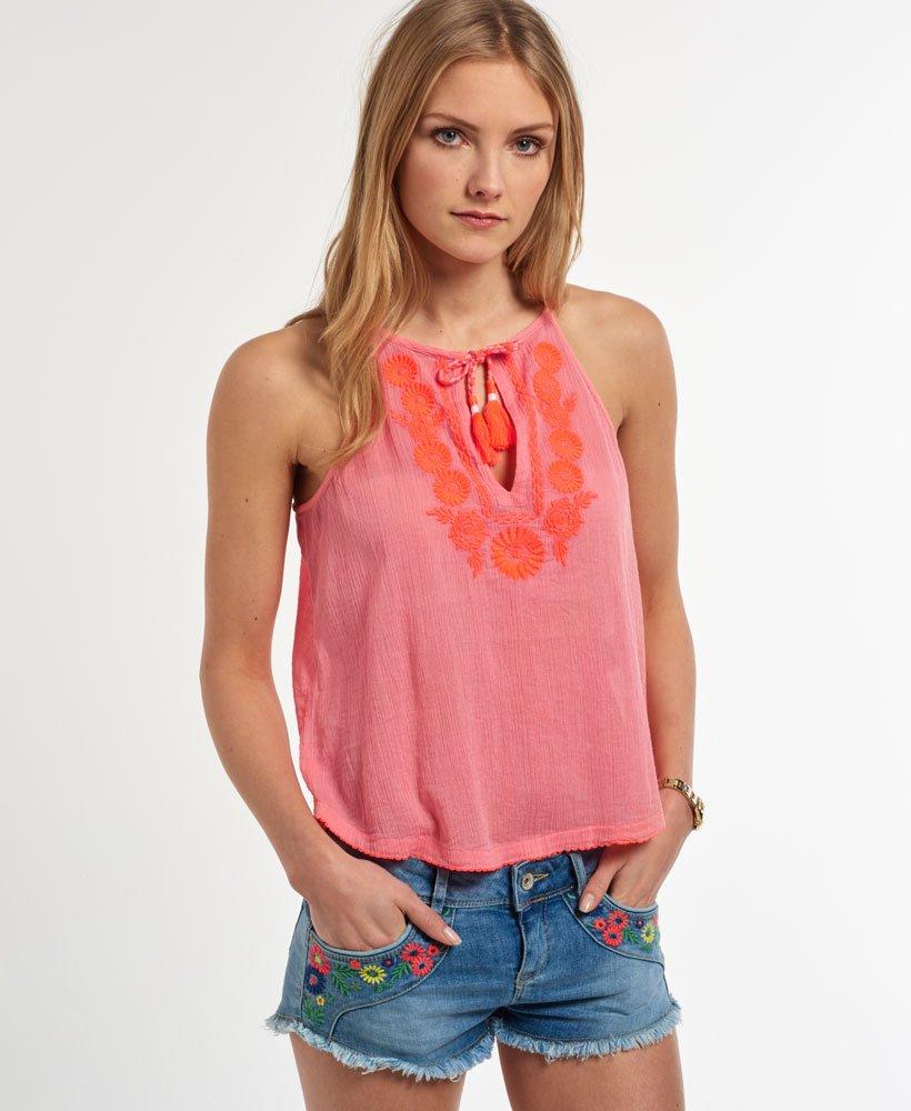 c9896e225e Superdry Camiseta de tirantes Folk - Tops para Mujer