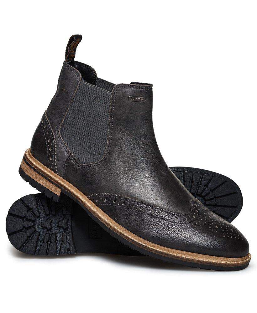 Superdry Brad Brogue Premium Chelsea Boots thumbnail 1