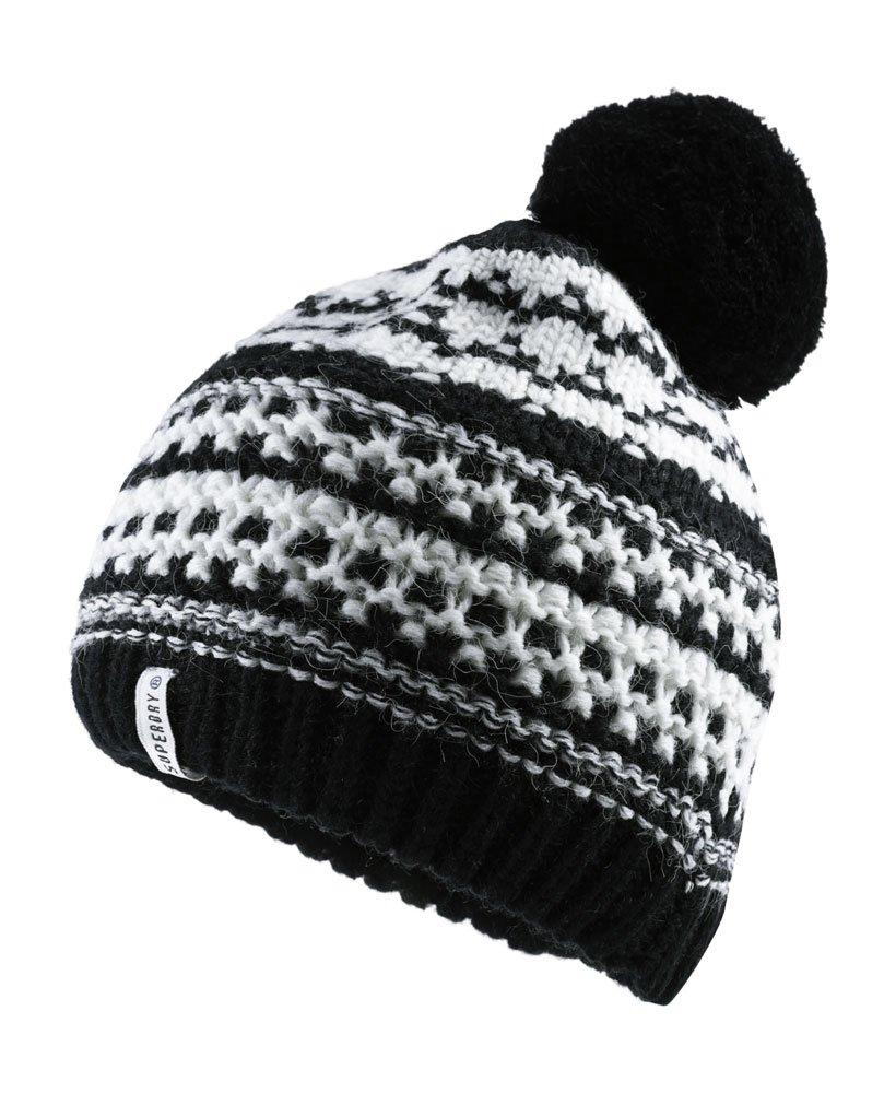 Superdry Bonnet à pompon Nordic Pattern