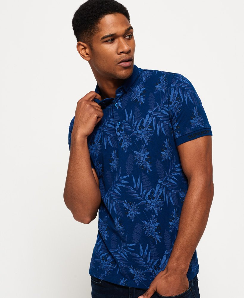 Superdry City All Over Print Jersey Polo skjorte Herre