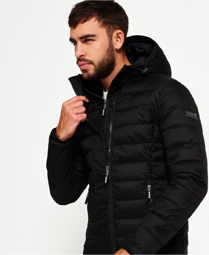 Superdry Double Zip Tweed Fuji Hooded Jacket Men's Jackets
