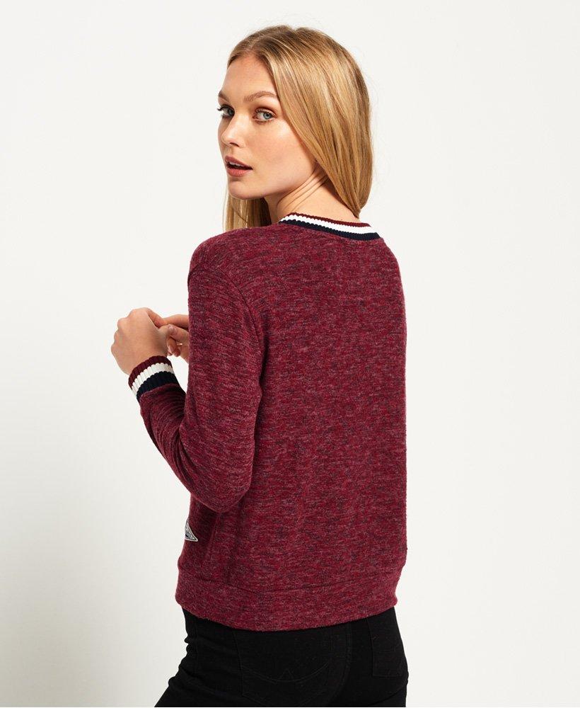 Nouveau Débardeur Superdry Brentwood Sweater Zeta Bordeaux Chiné