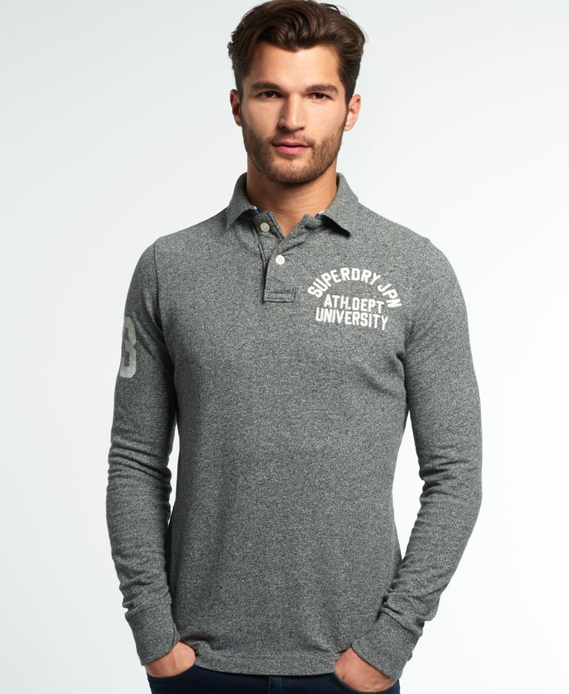 Superdry Shop Cheap Superdry Super State Long Sleeve Polo